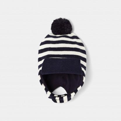 Bonnet à rayures bébé garçon