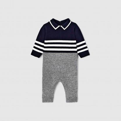 Combinaison bébé garçon en tricot
