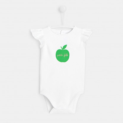 Body bébé fille motif pomme