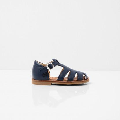 Sandales bébé garcon en cuir lisse