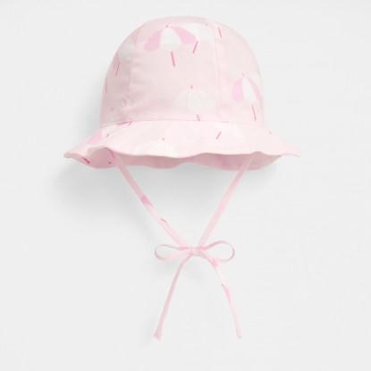 Chapeau bébé fille motif parasol