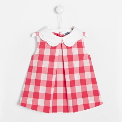 Blouse bébé fille en Vichy