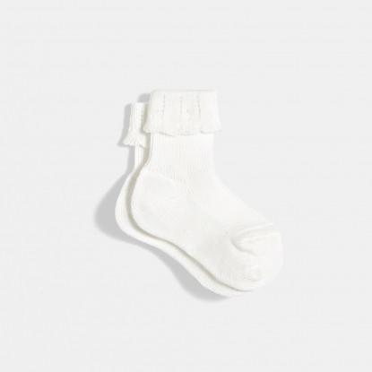Chaussettes bébé fille à revers