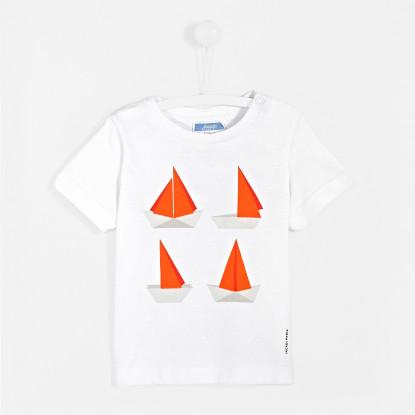 T-shirt bébé garçon imprimé bateaux