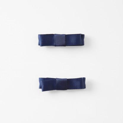Duo de barrettes à noeud plat