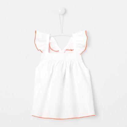 Blouse bébé fille à détails fluo