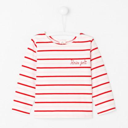 T-shirt bébé fille marinière