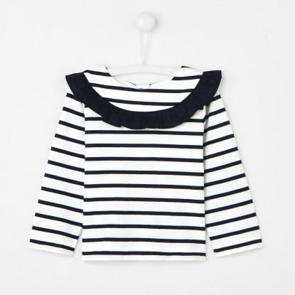 T-shirt marinière bébé fille
