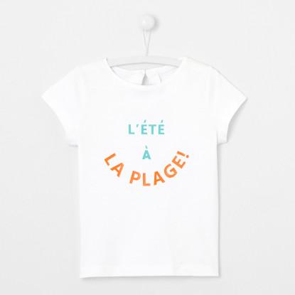 T-shirt enfant fille à message