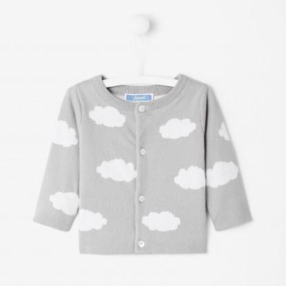 Cardigan bébé garçon motif nuage