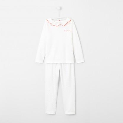 Pyjama enfant fille à pois