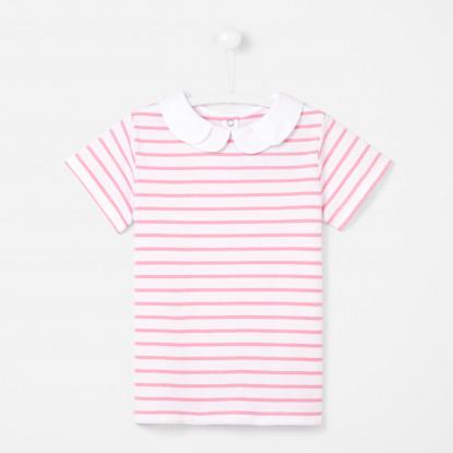 T-shirt enfant fille à rayures