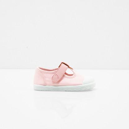 Sandalettes en toile bébé fille