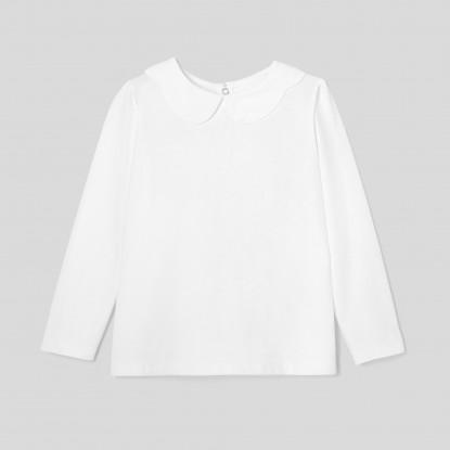 T-shirt enfant fille à col festonné