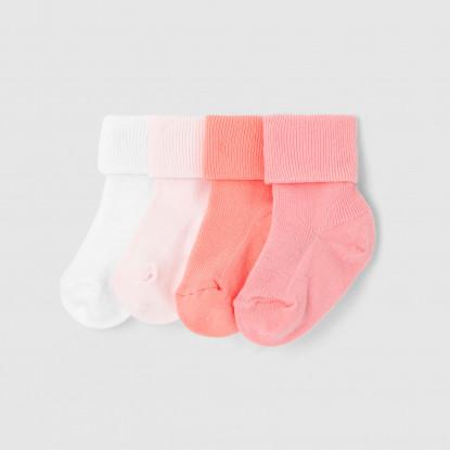 Lot de 4 paires de chaussettes bébé fille