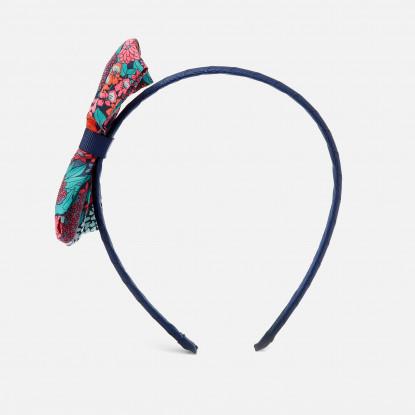 Serre-tête noeud en tissu Liberty