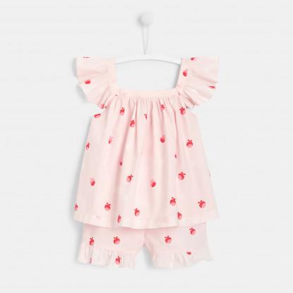 Pyjama short enfant fille