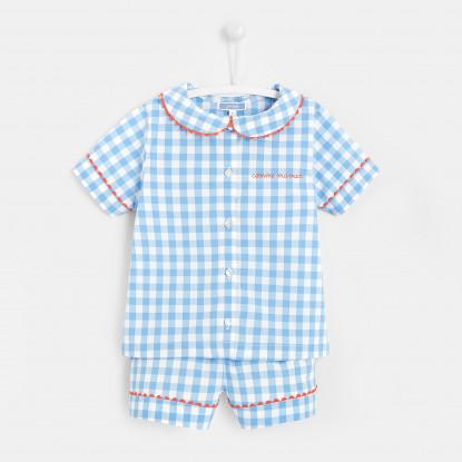 Pyjama short enfant fille en Vichy