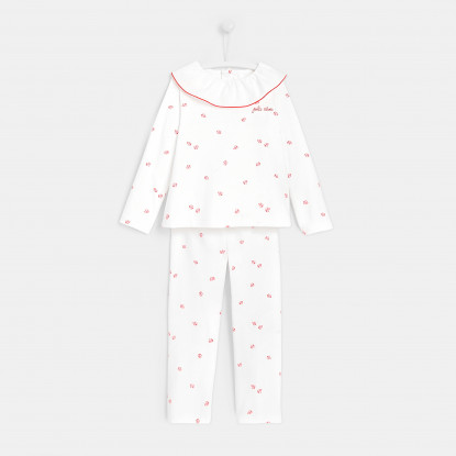 Pyjama enfant fille coccinelles