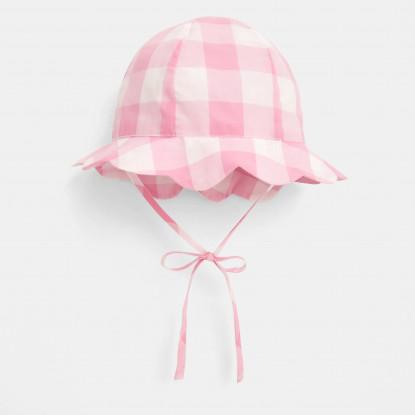 Chapeau bébé fille en Vichy