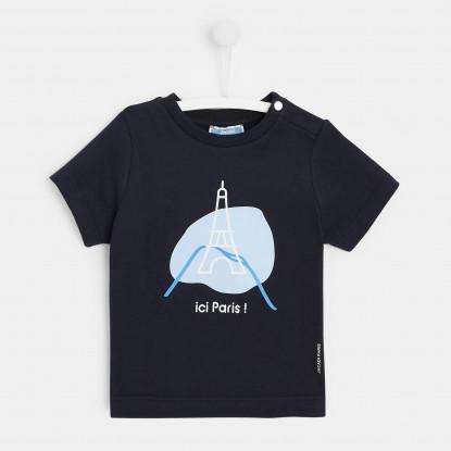 T-shirt bébé garçon motif parisien
