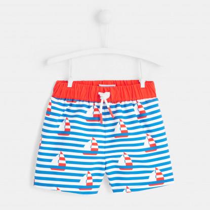 Short de bain bébé garçon bateaux