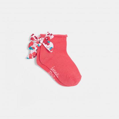 Chaussettes bébé fille à noeud