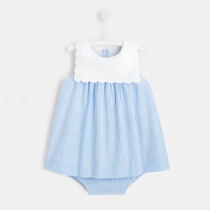 Robe bébé fille à rayures