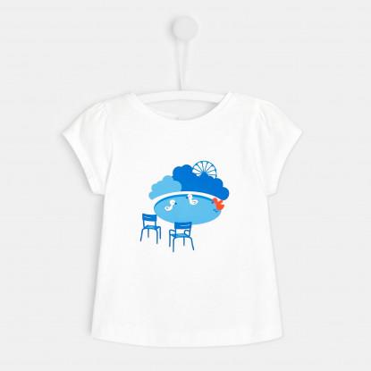 T-shirt bébé fille imprimé parisien