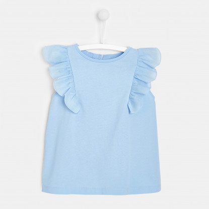T-shirt enfant fille à manches volantées