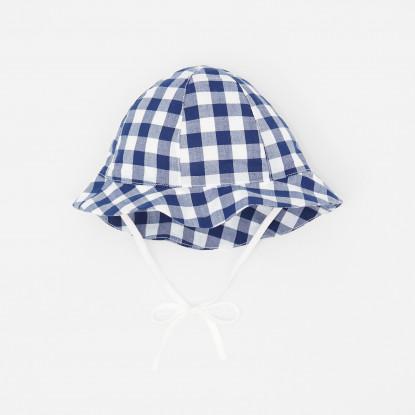 Chapeau bébé garçon en Vichy