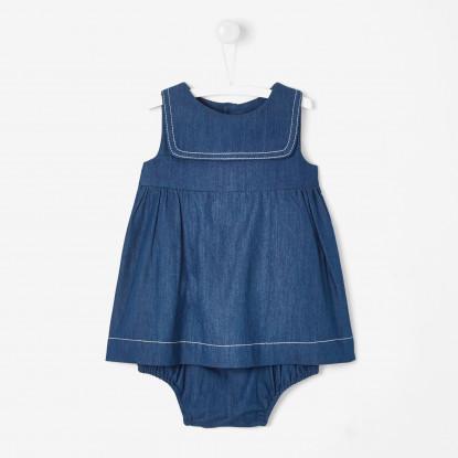 Robe bébé fille en jean