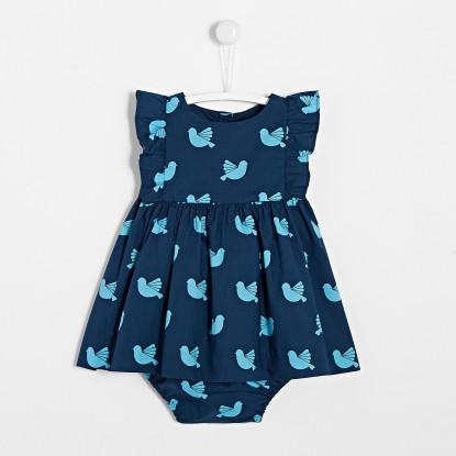 Robe bébé fille motif oiseau