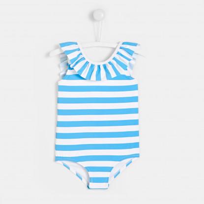 Maillot de bain bébé fille à rayures