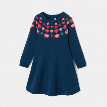 Robe en laine mélangée enfant fille