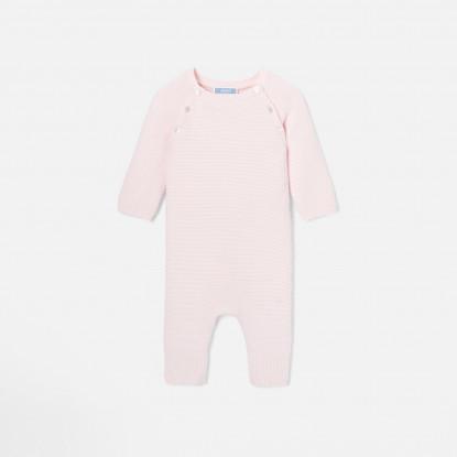 Combinaison bébé fille en tricot