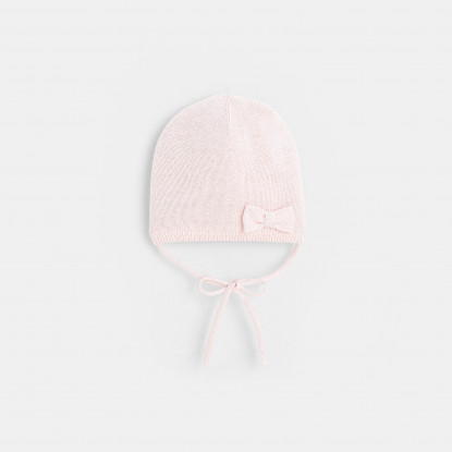 Bonnet bébé fille en tricot